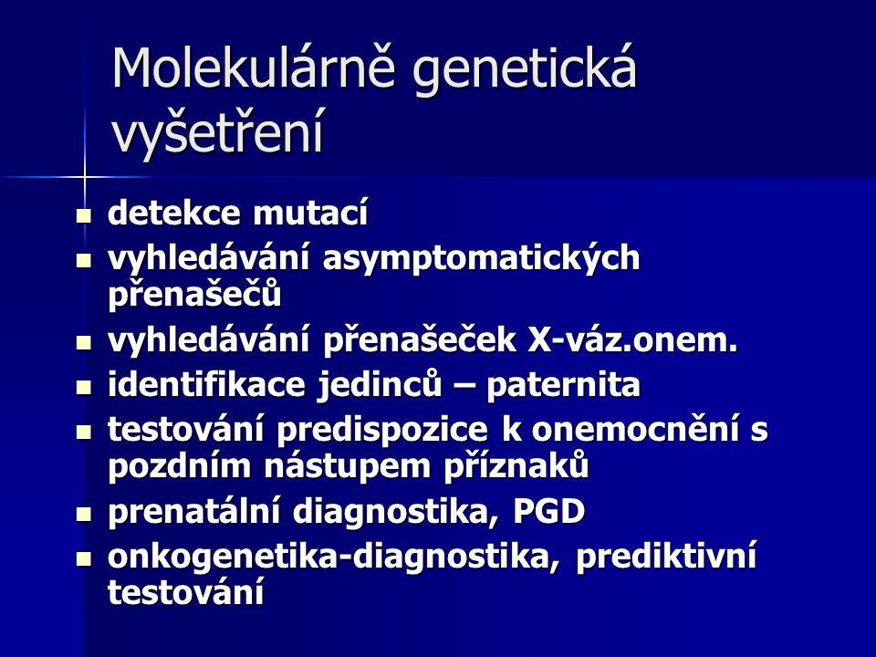 Molekulárně genetická vyšetření
