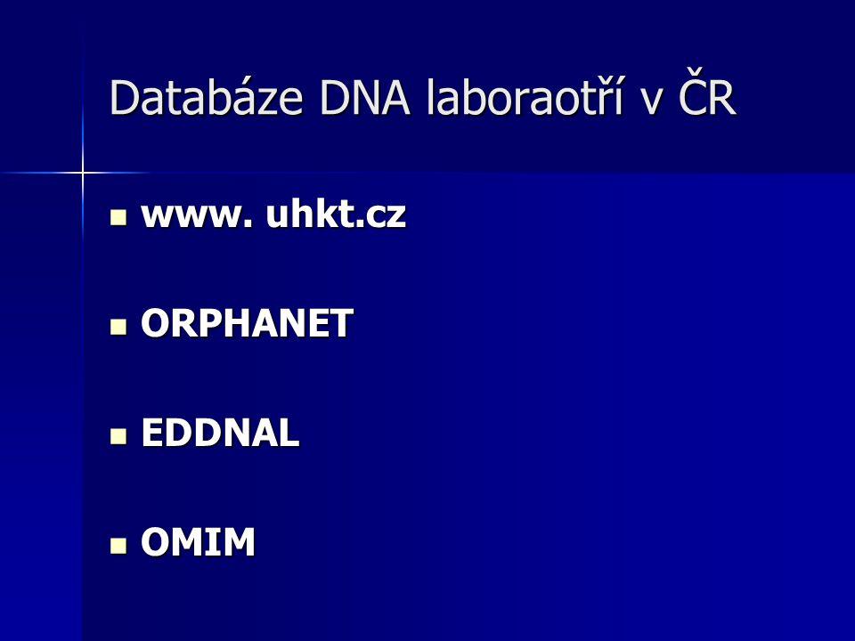 Databáze DNA laboraotří v ČR
