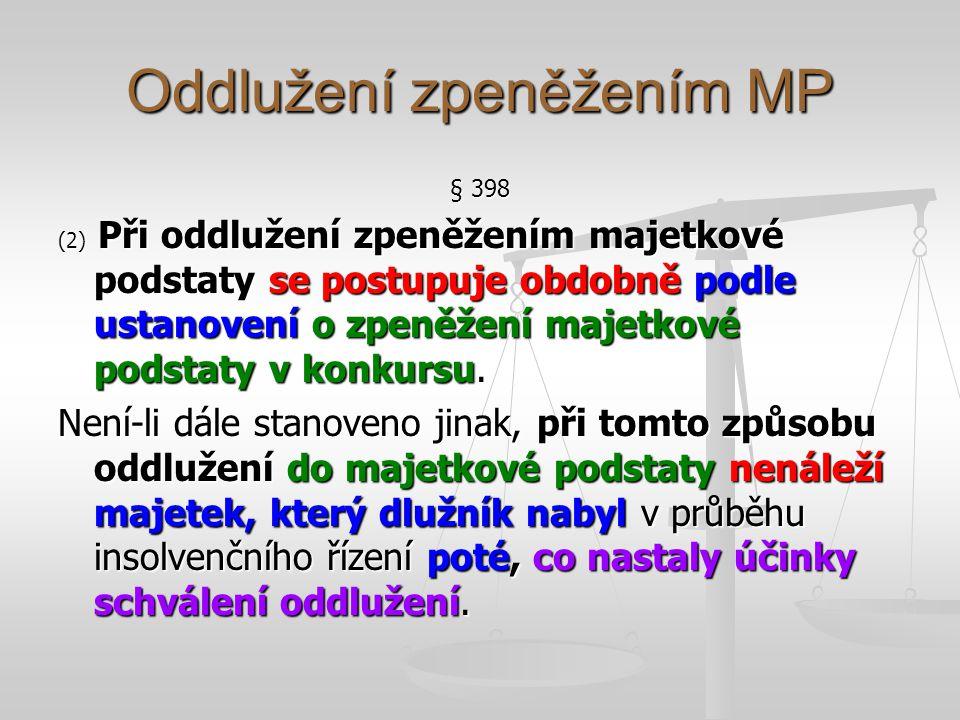 Oddlužení zpeněžením MP