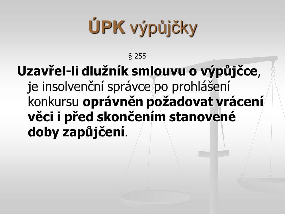 ÚPK výpůjčky § 255.