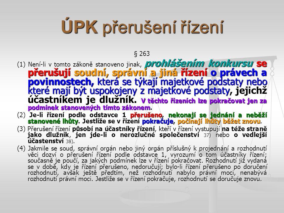 ÚPK přerušení řízení § 263.