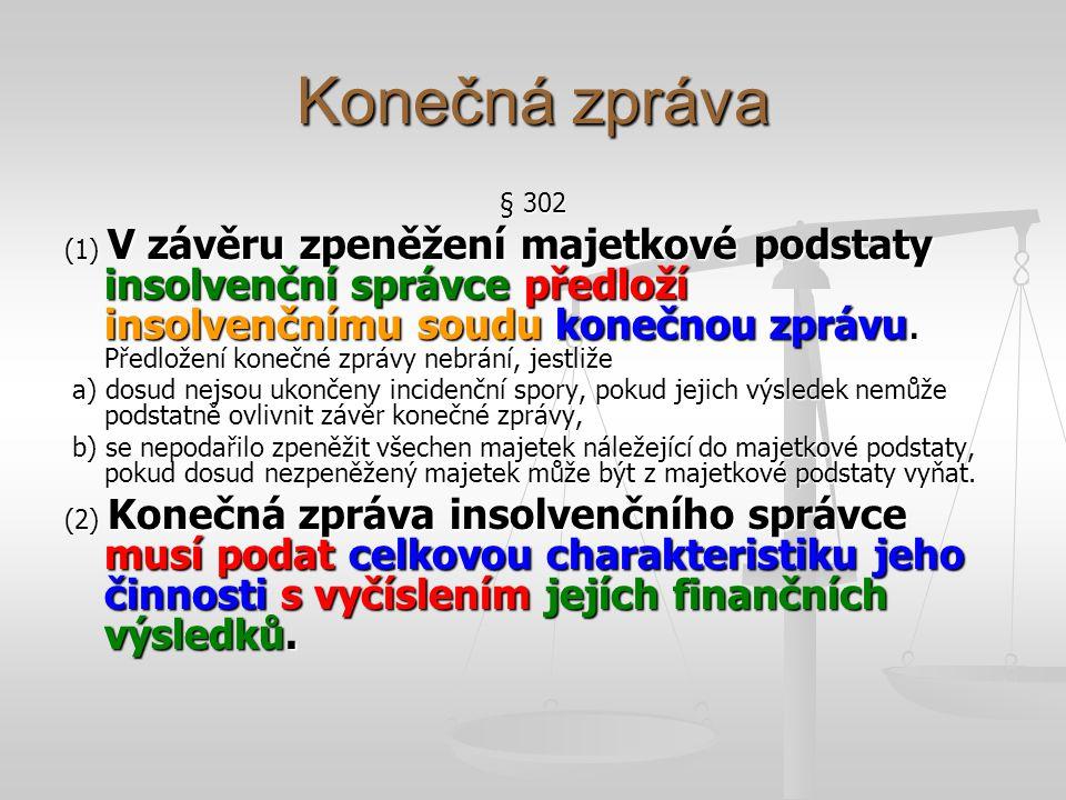 Konečná zpráva § 302.