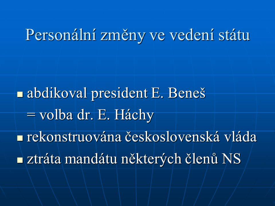 Personální změny ve vedení státu