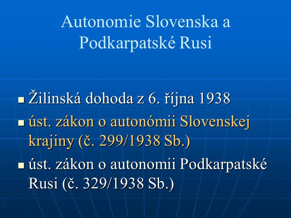 Autonomie Slovenska a Podkarpatské Rusi