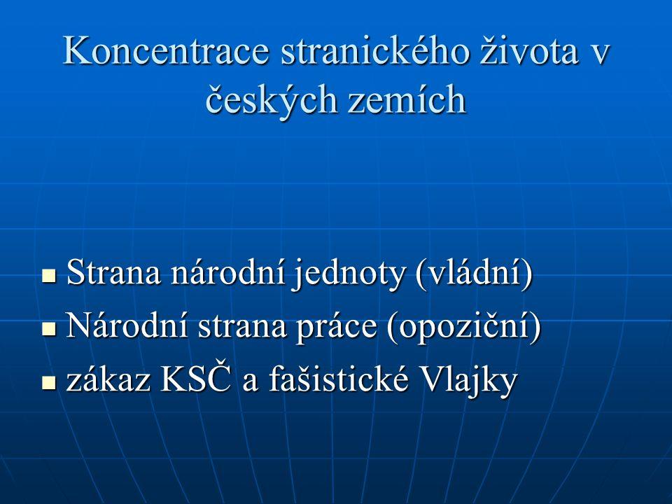 Koncentrace stranického života v českých zemích