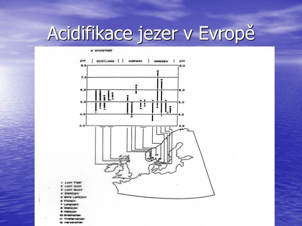 Acidifikace jezer v Evropě