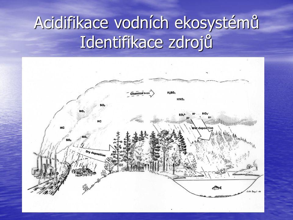 Acidifikace vodních ekosystémů Identifikace zdrojů