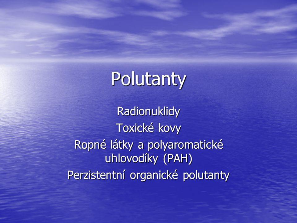 Polutanty Radionuklidy Toxické kovy