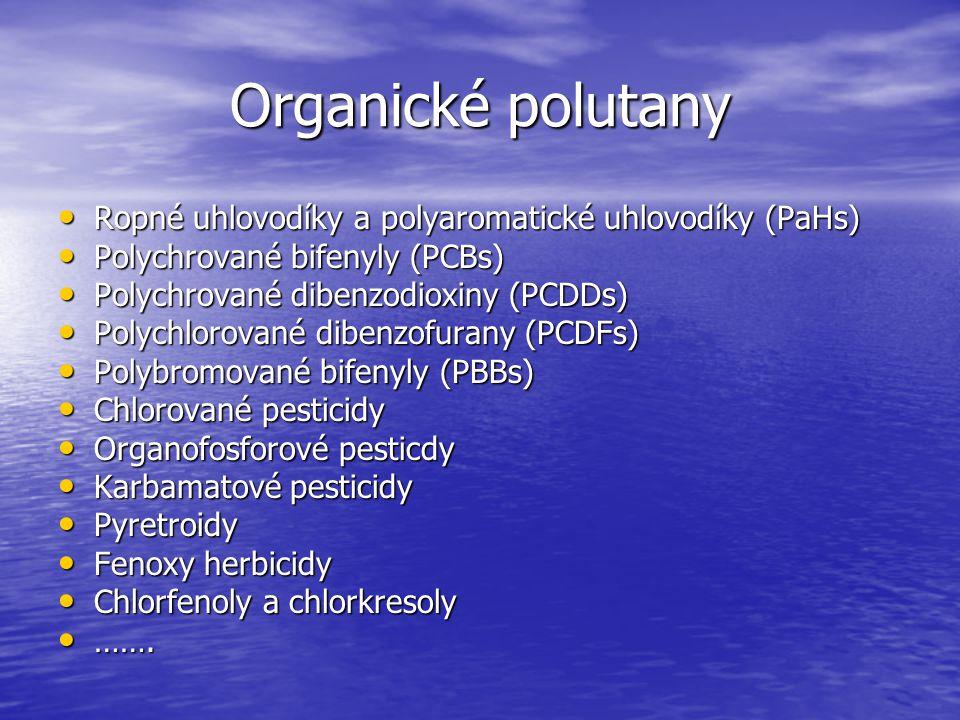 Organické polutany Ropné uhlovodíky a polyaromatické uhlovodíky (PaHs)