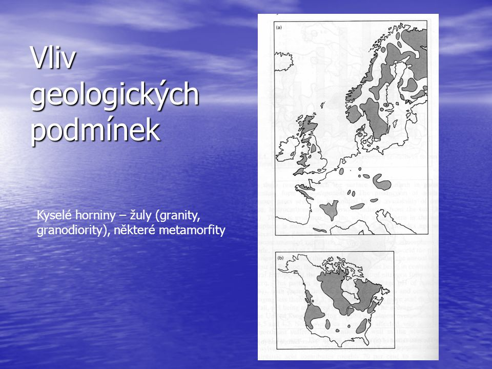 Vliv geologických podmínek