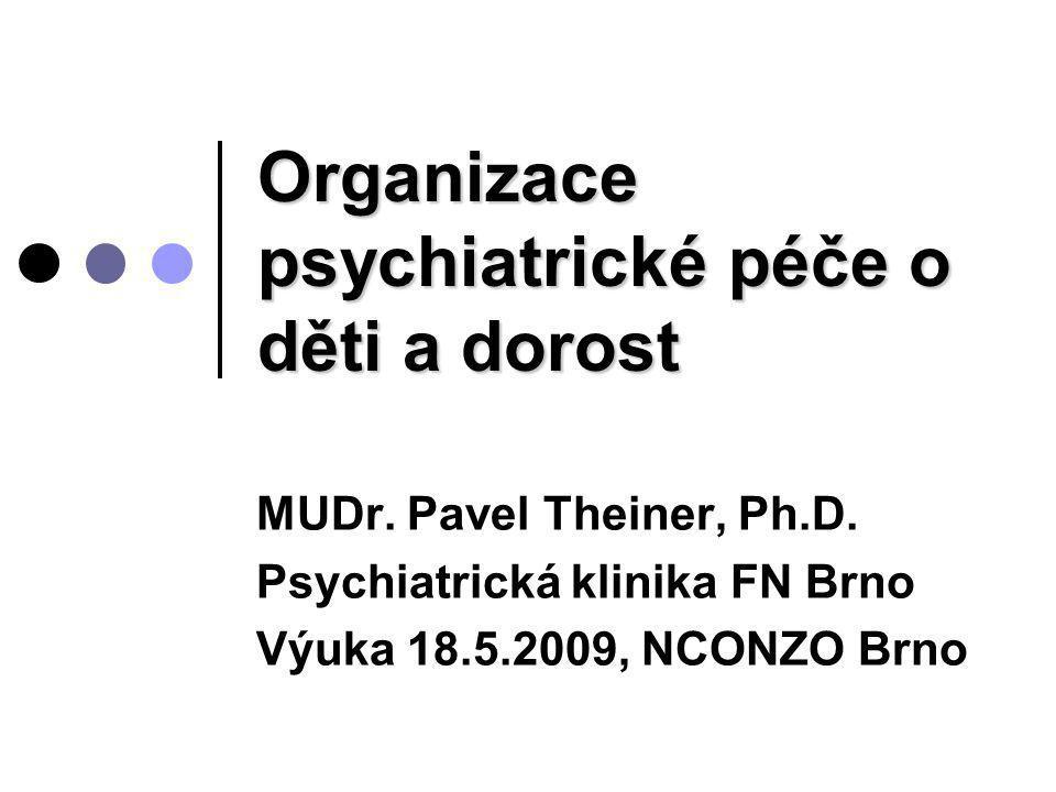 Organizace psychiatrické péče o děti a dorost