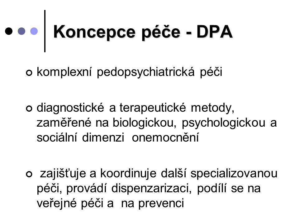 Koncepce péče - DPA komplexní pedopsychiatrická péči