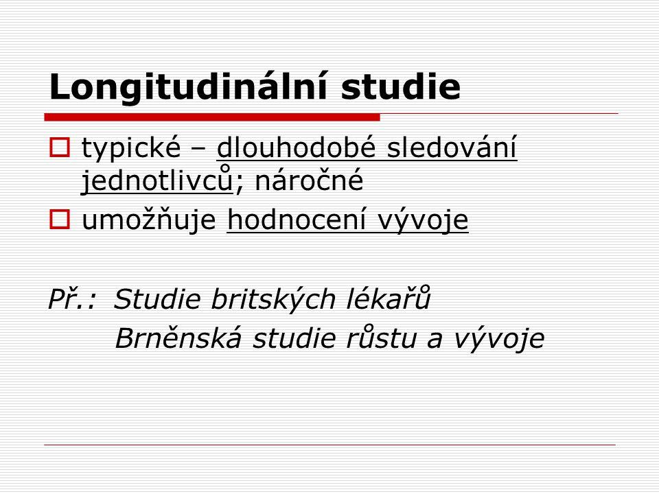 Longitudinální studie