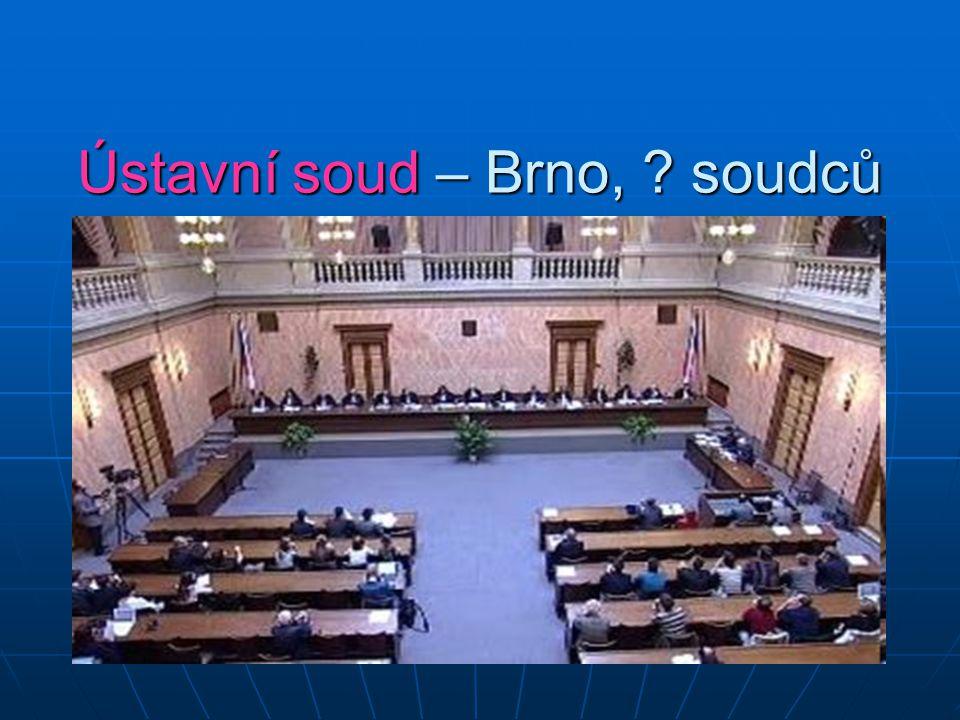 Ústavní soud – Brno, soudců