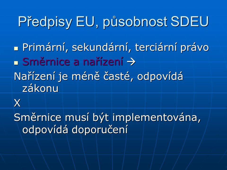 Předpisy EU, působnost SDEU