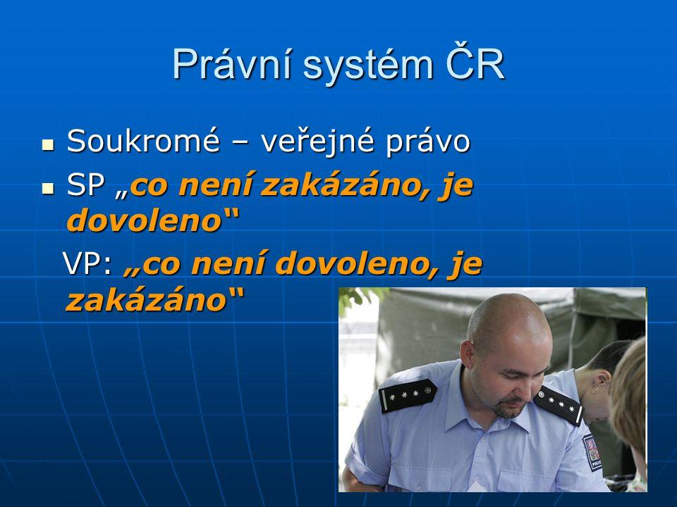 Právní systém ČR Soukromé – veřejné právo