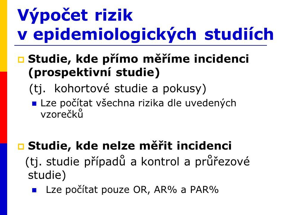 Výpočet rizik v epidemiologických studiích