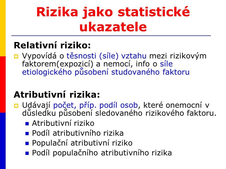 Rizika jako statistické ukazatele