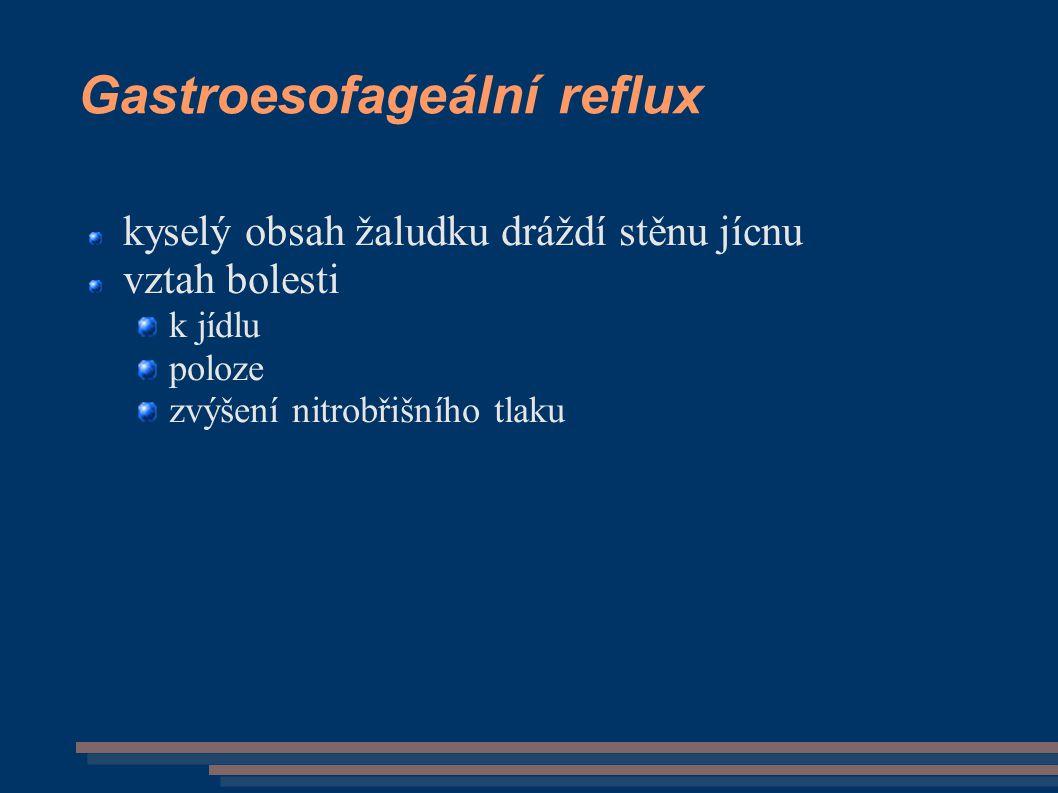 Gastroesofageální reflux
