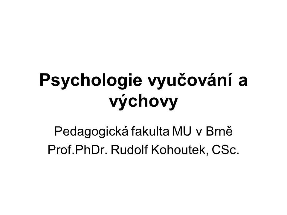 Psychologie vyučování a výchovy