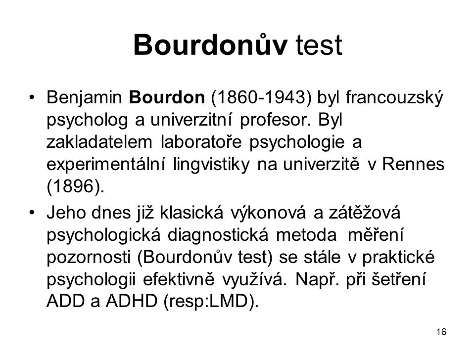 Bourdonův test