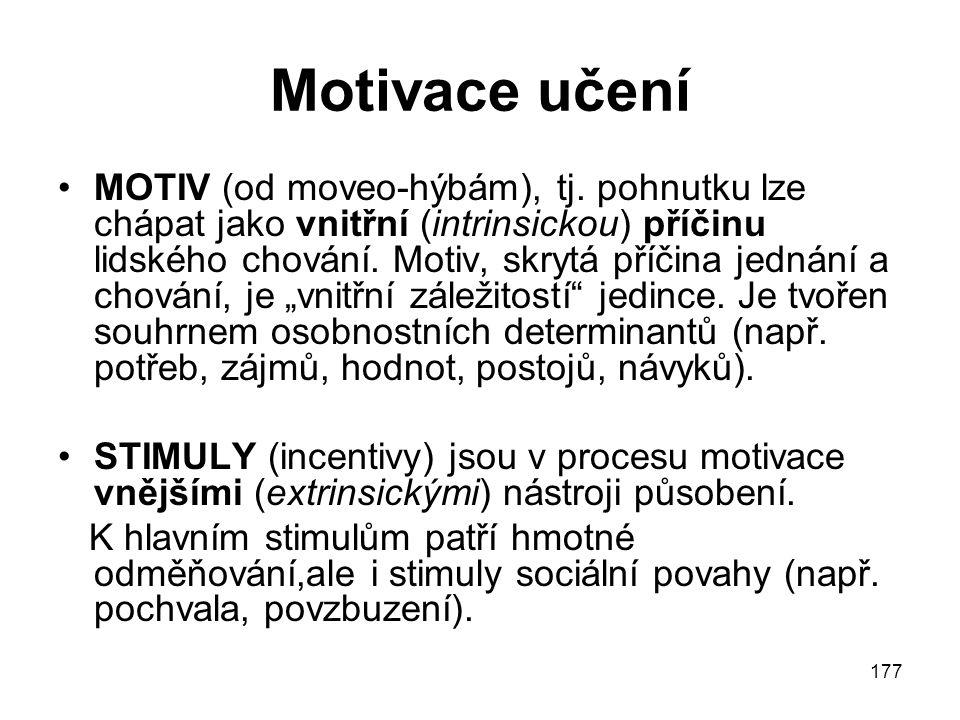 Motivace učení