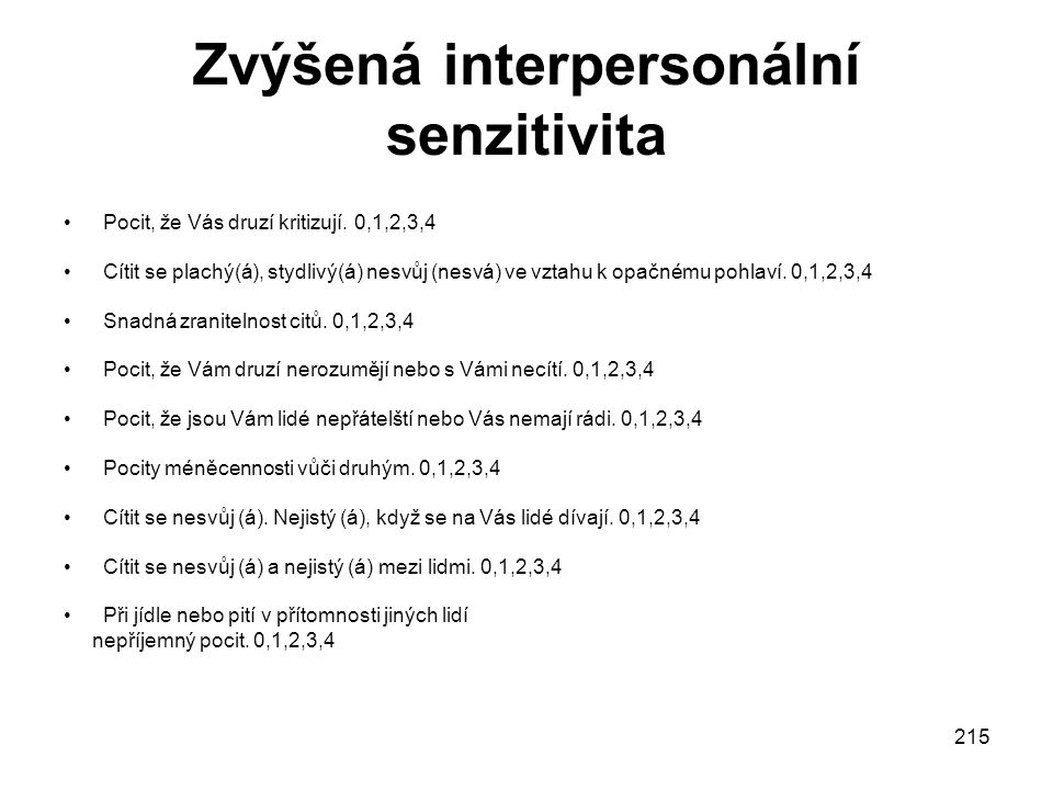 Zvýšená interpersonální senzitivita