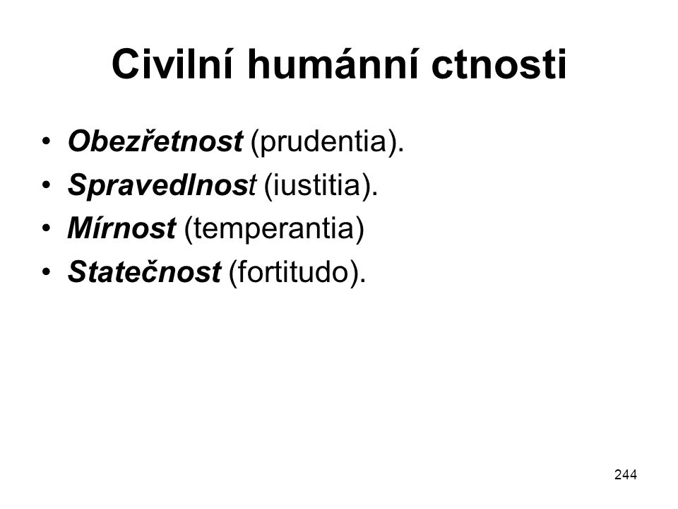 Civilní humánní ctnosti