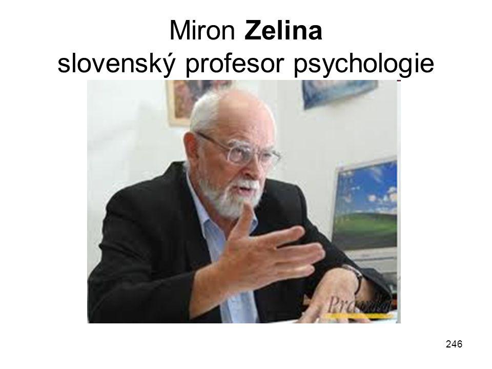 Miron Zelina slovenský profesor psychologie