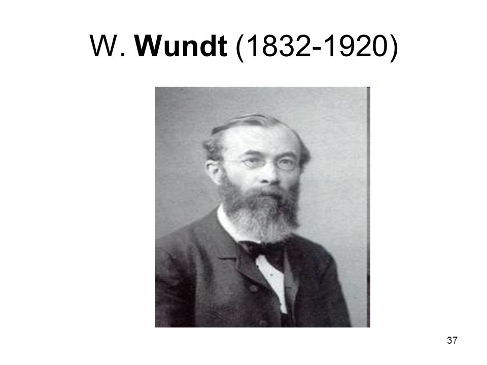W. Wundt (1832-1920)