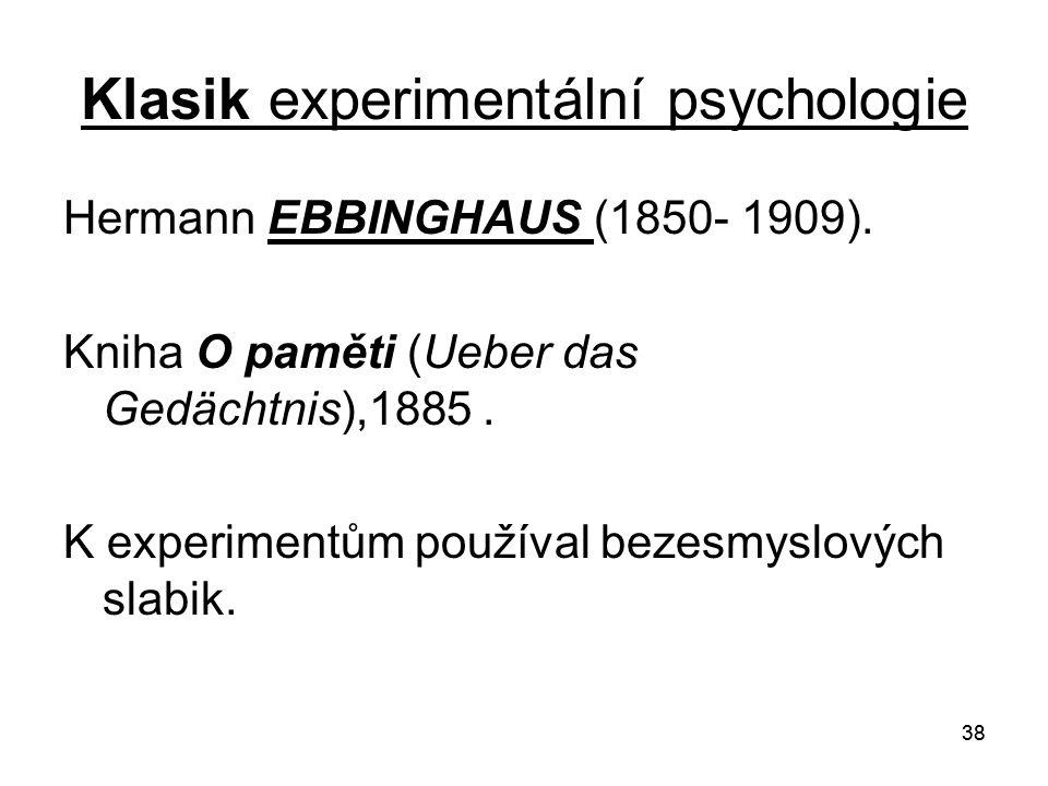 Klasik experimentální psychologie