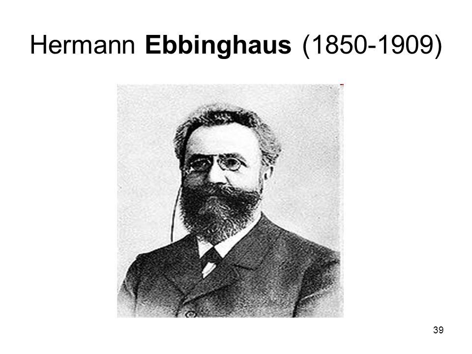 Hermann Ebbinghaus (1850-1909)