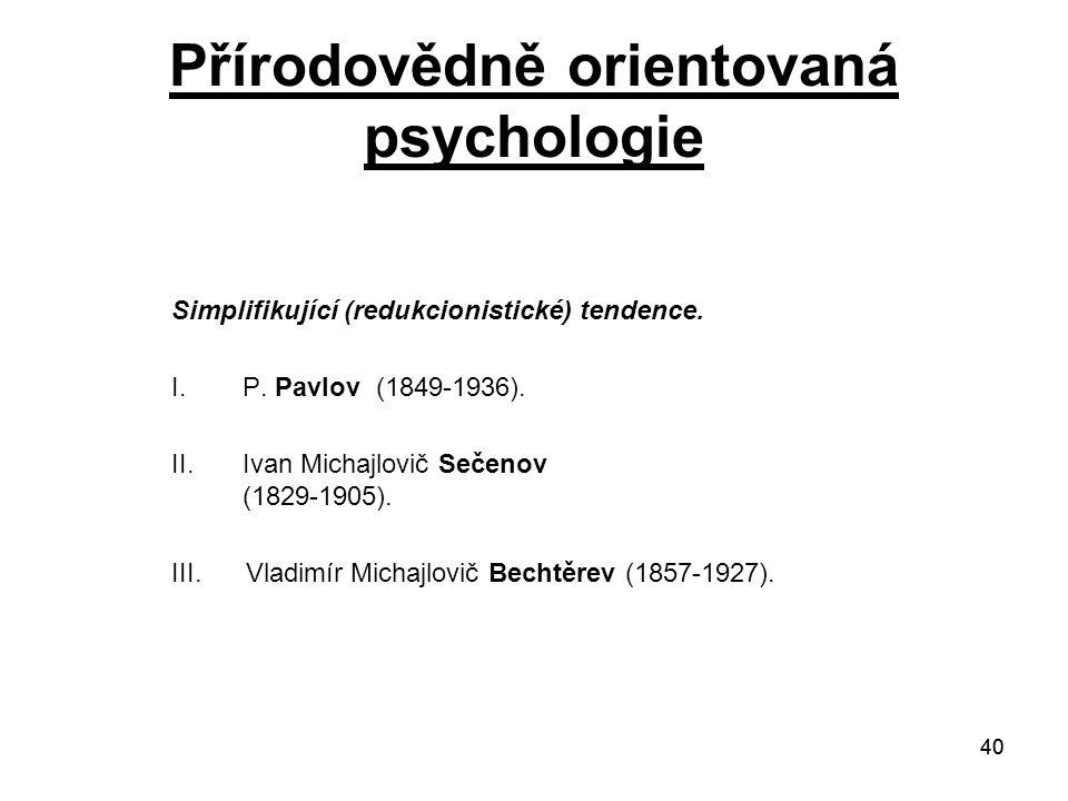 Přírodovědně orientovaná psychologie