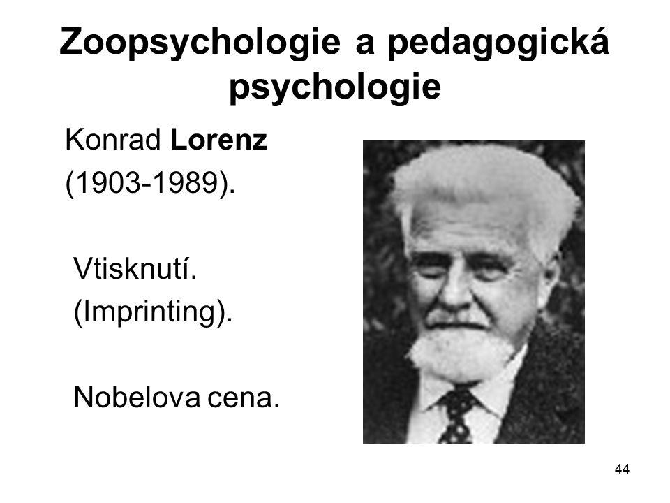 Zoopsychologie a pedagogická psychologie
