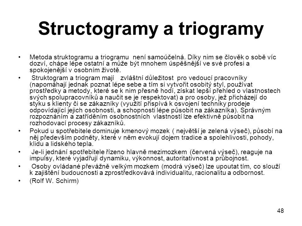 Structogramy a triogramy