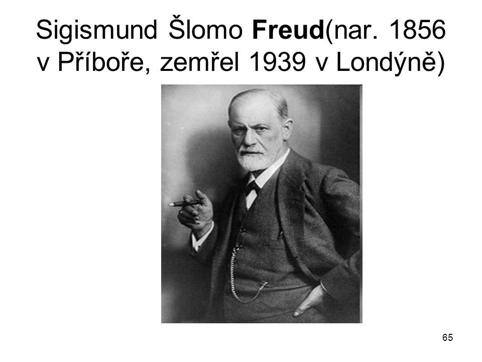 Sigismund Šlomo Freud(nar. 1856 v Příboře, zemřel 1939 v Londýně)
