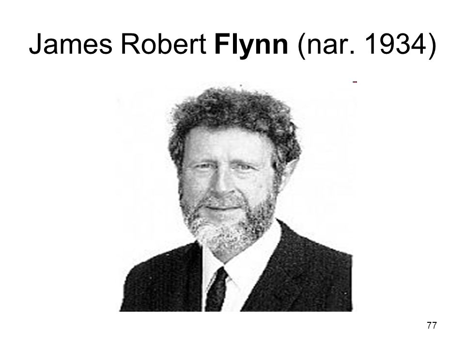 James Robert Flynn (nar. 1934)