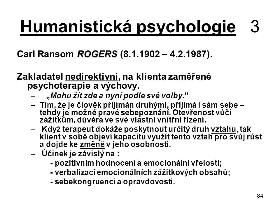 Humanistická psychologie 3