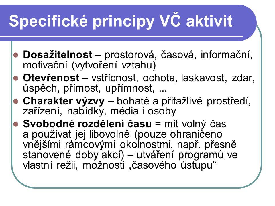 Specifické principy VČ aktivit