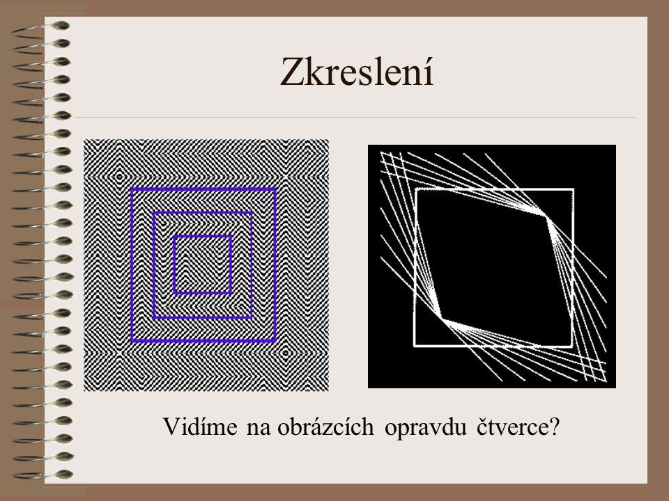 Zkreslení Vidíme na obrázcích opravdu čtverce