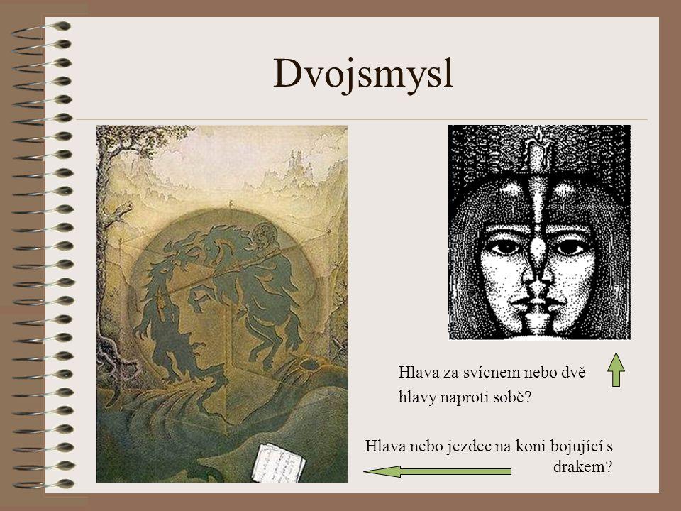 Dvojsmysl Hlava za svícnem nebo dvě hlavy naproti sobě