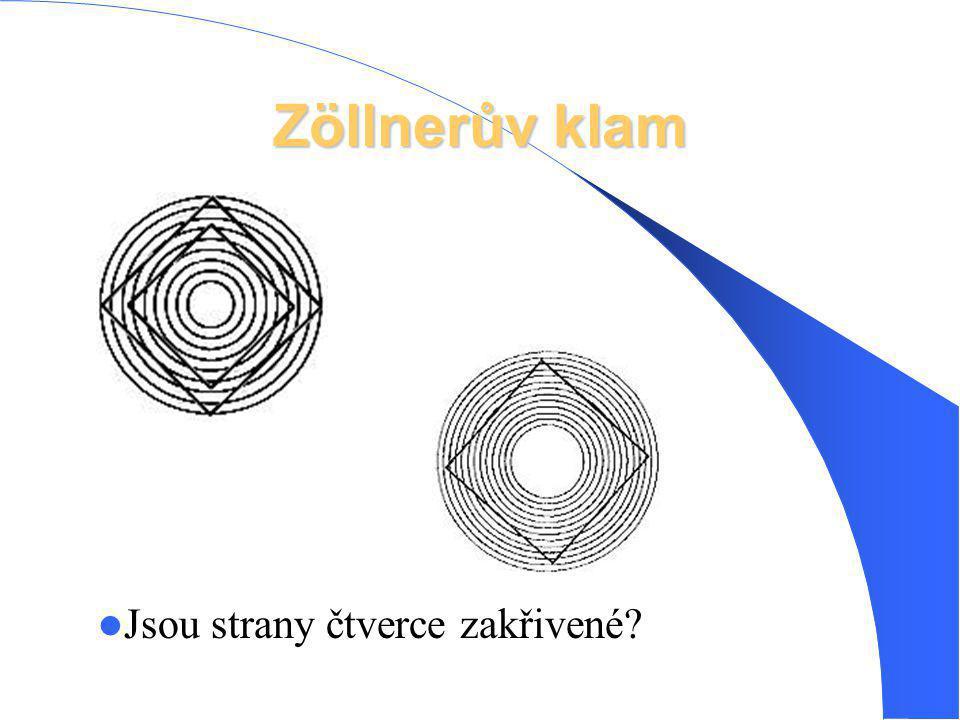 Zöllnerův klam Jsou strany čtverce zakřivené