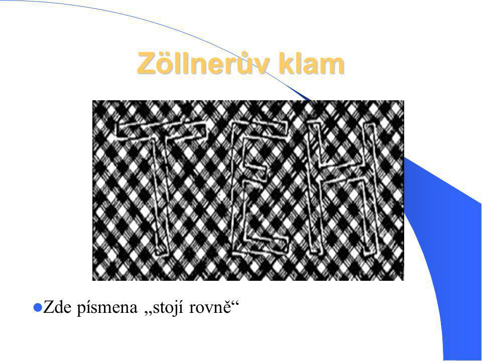 """Zöllnerův klam Zde písmena """"stojí rovně"""