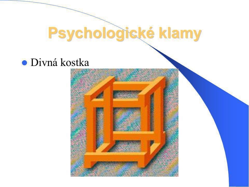 Psychologické klamy Divná kostka