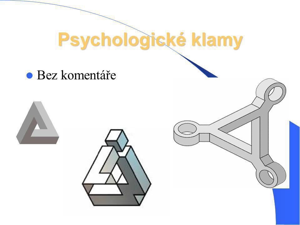 Psychologické klamy Bez komentáře