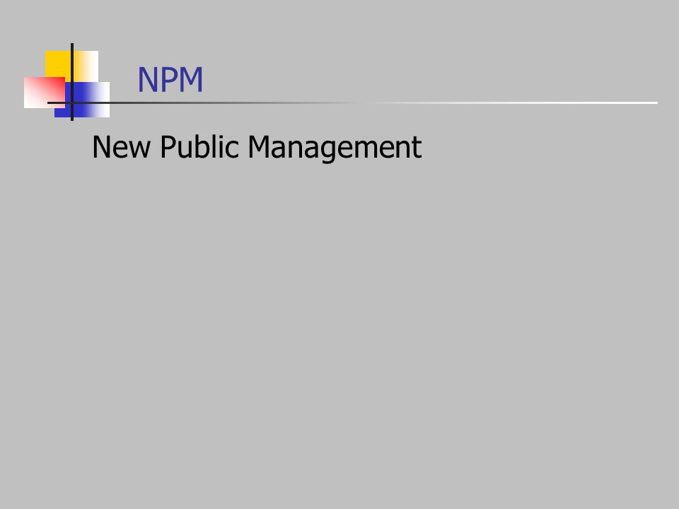 NPM New Public Management