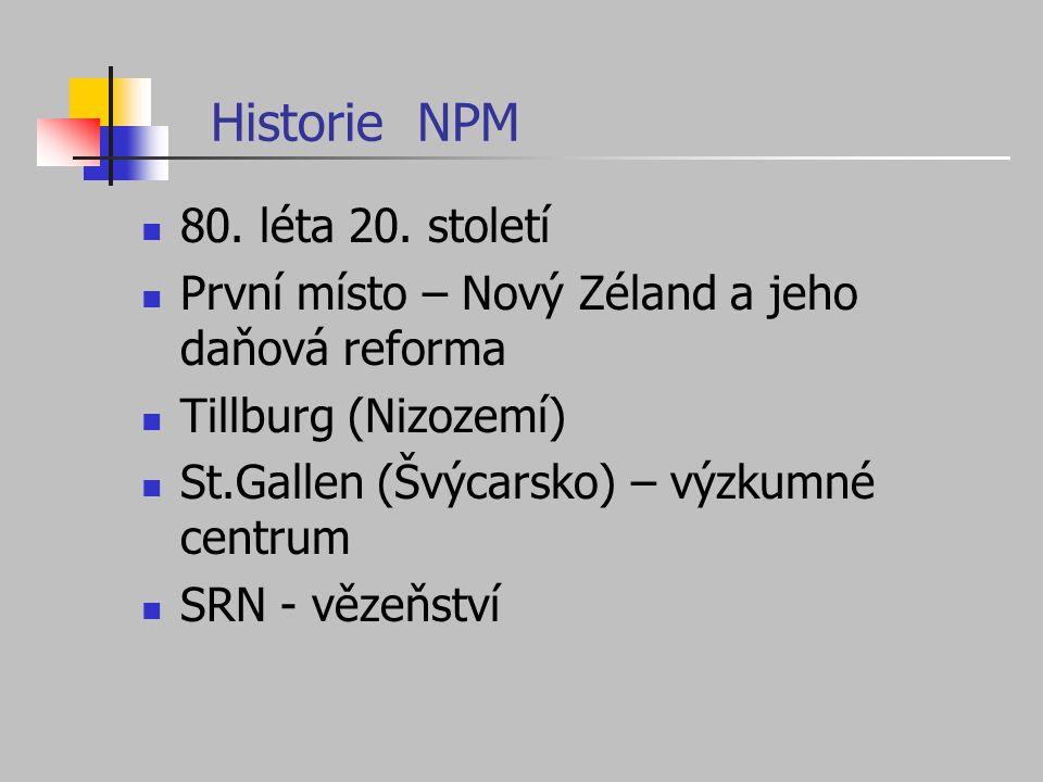 Historie NPM 80. léta 20. století