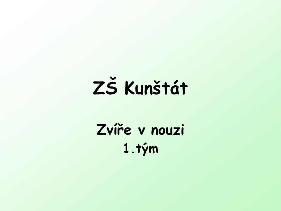 ZŠ Kunštát Zvíře v nouzi 1.tým
