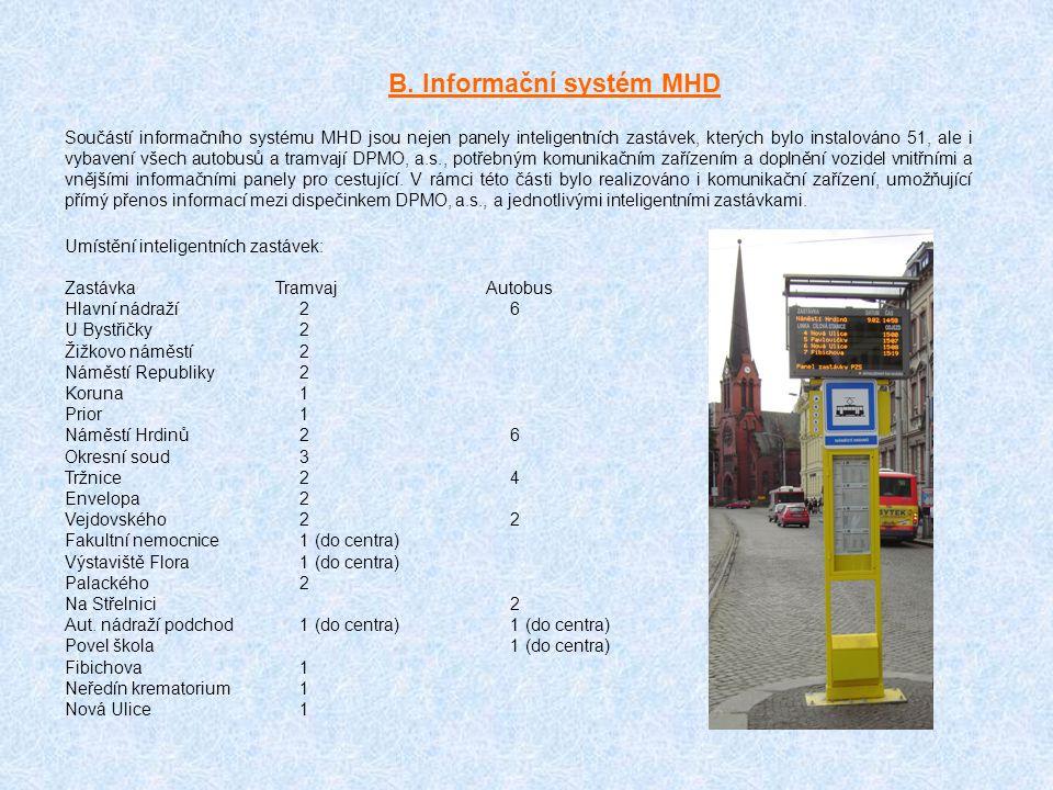 B. Informační systém MHD