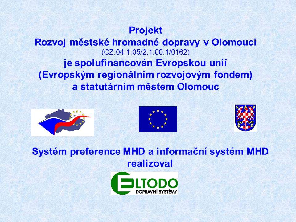 Projekt Rozvoj městské hromadné dopravy v Olomouci